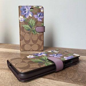 Coach Floral Monogram Phone Case Wallet